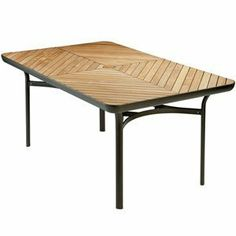"""Barlow Tyrie Loop Rectangular Dining Table 63 inch by Barlow Tyrie. $1579.00. The teak wood used in the dramatic, diagonal slat diamond pattern of the Loop Dining Table is plantation grown teakwood. The Loop collection features a powder coated paint finish in three available colors over a tubular aluminum frame. Loop represents a lighter and more economical choice from the Barlow Tyrie Eclipse collection. Dimensions:Length: 156.5cm, 61"""" Height: 74cm, 29"""" Weight: 29.5kg, 65lb W..."""