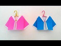 Origami coat...พับเสื้อคลุม... - YouTube