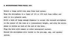 1971 Microphone/Tree Piece, Bruce Nauman