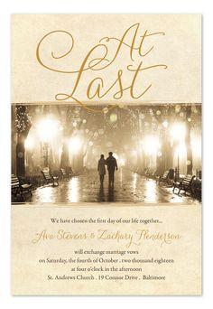 At Last photo wedding invitations