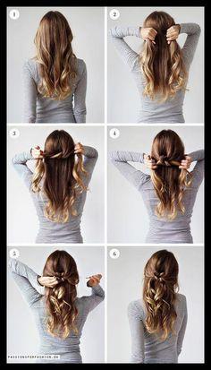 Haare frisuren machen offene selber Frisuren Selber