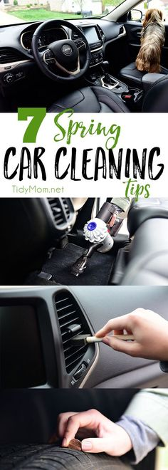 Spring Car Cleaning Tips It's time to spring clean the car. The winter months can wreak havoc on your car's exterior and interior. The change of season is the perfect time to detail your car, from top to bottom! Spring Car Cleaning Tips at Cleaning Hacks Tips And Tricks, Car Cleaning Hacks, Deep Cleaning Tips, Toilet Cleaning, House Cleaning Tips, Cleaning Solutions, Diy Hacks, Cleaning Recipes, Cleaning Interior Of Car