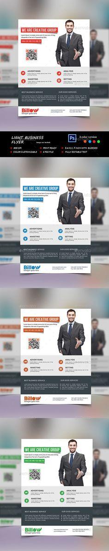 Light Business Flyer Template PSD. Download here: http://graphicriver.net/item/light-business-flyer/13756160?s_rank=281&ref=yinkira