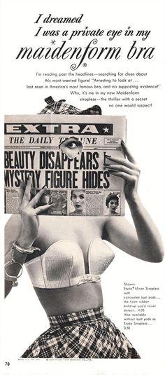 Funny Vintage Ads 1950s   Enter The Strange World Of Vintage Lingerie Ads   Barnorama