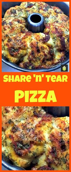Share n Tear Pizza. 1 can of refrigerated biscuits LARGE size OR make your own dough.  2 cups mozzarella cheese.  1 cup pizza sauce (choose your favourite) Plus extra for serving if you wish.  12-15 slices of pepperoni (Sliced into halves).  2 tsp dried oregano or italian seasoning.  2 tsp garlic powder.