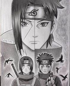 Itachi and Shisui Uchiwa, two naturally kind and strong people. Anime Naruto, Naruto Shippuden Sasuke, Itachi Uchiha, Naruto Und Sasuke, Anime Echii, Naruto Fan Art, Otaku Anime, Anime Comics, Shikamaru