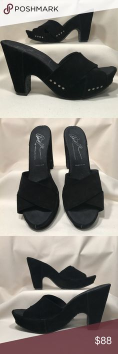 Donald J. Pliner Black Suede Hilene Sandals Sz 8.5 Beautiful black suede heeled sandals by Donald J. Pliner. These shoes are in excellent condition. Suede shoes show wear a little more easily. The style name is Hilene. Color is jet black. Size is 8.5 M Donald J. Pliner Shoes Sandals