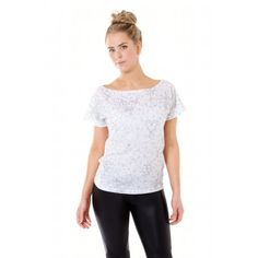 Geo Pop T-shirt White/ Silver AU$85