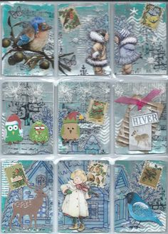 """Pocket letter """"hiver"""""""