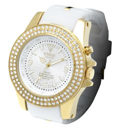 white and gold watch - stunning!