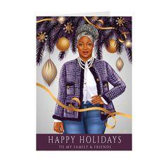 Christmas Greetings, Christmas Cards, Black Christmas, Black Pride, Black Girls Rock, American Pride, African American Women, Paper Cards, Cute