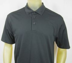 Nike Golf Fit Dry Polo Shirt Black Large #NikeGolf #PoloRugby