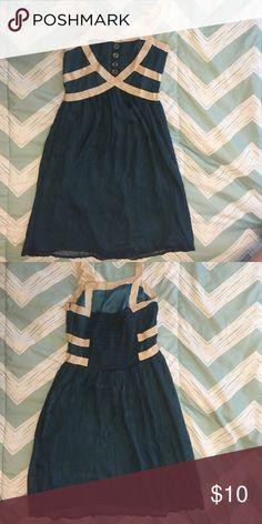 Silk Blue Sundress Gently worn blue silk dress. Burlap Dresses Midi