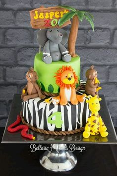 birthday cake Zoo cake