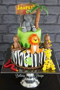 birthday cake Zoo cake