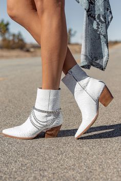 d1bd2c4922 White Python Matisse Caty Bootie Exclusive – 12th Tribe Silver Boots