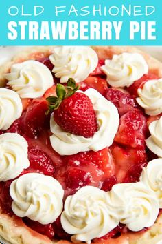 Old Fashioned Strawberry Pie is made completely from scratch with an almost creamy strawberry sauce smothering fresh strawberries. Top it all off with a cream cheese whipped topping for the perfect strawberry pie! Fresh Strawberry Pie, Strawberry Sauce, Strawberry Desserts, Köstliche Desserts, Delicious Desserts, Dessert Recipes, Yummy Food, Stawberry Pie, Strawberry Picking