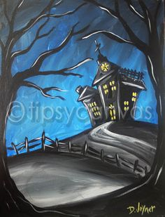 Tipsy Canvas McAllen : Haunted House - October 10, 2014