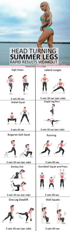 #womensworkout #workout #femalefitness Repin and share if this workout gave you head turning summer legs! Click the pin for the full workout.