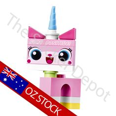 Unikitty Lego Minifigures Character Wall Safe MOVABLE Sticker - stickerdepot.com.au
