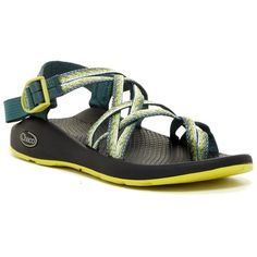 Chaco ZX2 Yampa Loop Toe Sandal ($65) ❤ liked on Polyvore featuring shoes, sandals, stardust, synthetic shoes, strap shoes, platform sandals, woven platform sandals and criss-cross sandals