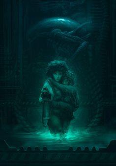 Aliens fan art by badillafloyd