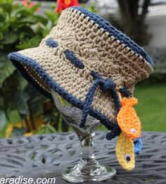 Gone Fishin' Baby Hat - Just image your little one wearing this on your next family camping trip - so cute!