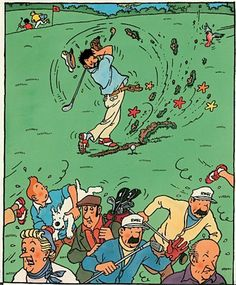 Capitaine Haddock Our Residential Golf Lessons are for beginners, Intermediate & advanced. Our PGA professionals teach all our courses in an incredibly easy way. Ex Libris, Caricatures, Captain Haddock, Herge Tintin, Comic Art, Comic Books, Golf Art, Ligne Claire, Golf Tips For Beginners