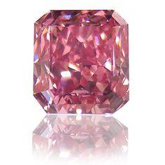 Emerald Cut Fancy VIVID Purplish Pink (ARGYLE) Diamond <3
