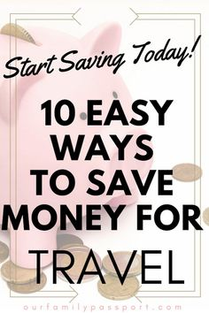 10 Simple Ways to Save Money for Travel - Our Family Passport - Finance tips, saving money, budgeting planner Family Budget, All Family, Ways To Save Money, Money Saving Tips, Money Tips, Travel Advice, Travel Tips, Travel Hacks, Travel Destinations