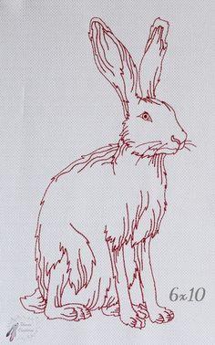 Sitting Hare 6x10