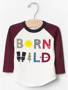 Born wild baseball tee | Gap