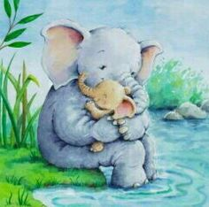 ❇❇❇ Elephant Love, Life Tattoos, Journal Pages, Joyful, Elephants, Teddy Bear, Animals, Baby Elephants, Drawings