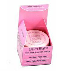 Rose Geranium Lip Balm in a Pot - 7ml Balm Balm 100% Organic