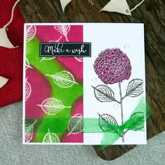 From the Flowering Hydrangea Stamp Set