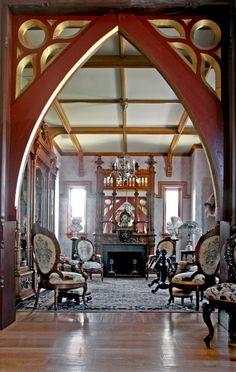 Interior , Gothic Interior Design for Dark but Attractive Home Decor Ideas : Inspiring Gothic Interior For Door Arch Design