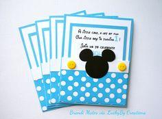Invitaciones Mickey Mouse conjunto de lunares por LuckyByCreations