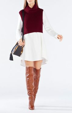 Casia Cropped Turtleneck Sweater - im kinda digging this cropped sweater. Could do it with pants too and a shorter blouse.