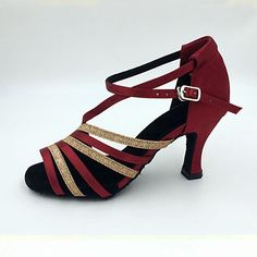 Mujer Salón Satén Sandalia   Tacones Alto Tacón Stiletto Personalizables  Zapatos de baile Blanco   Almendra   Fucsia   Interior   Rendimiento   Cuero  ... 6612108a7cf9