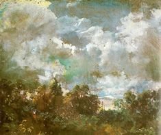 Study of Sky and Trees - John Constable c. 1821