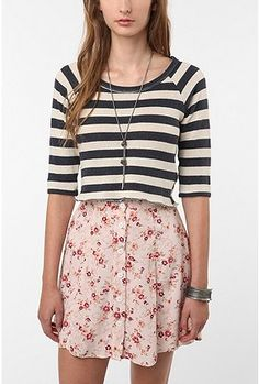 love this combination of floral and stripes