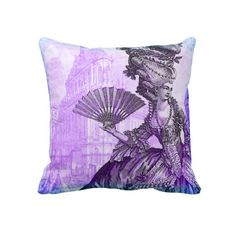 Shop Marie Antoinette Versailles Purple Haze Pillow created by CartesduJour. Purple Throw Pillows, Diy Pillows, Custom Pillows, Decorative Throw Pillows, Purple Haze, Shades Of Purple, Purple And Black, Versailles, Purple Bedrooms