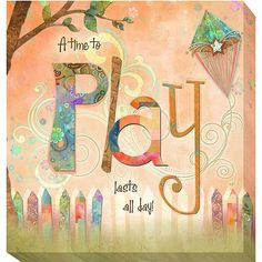Connie Haley 'Play' Canvas Giclee Art - Overstock Shopping - Top Rated Canvas
