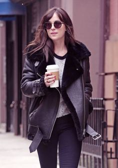 Dakota Johnson on the streets of NY - 9 April 2015