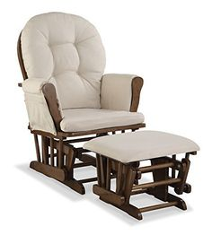 http://allabouttoys.net/stork-craft-custom-hoop-glider-and-ottoman-dove-brownbeige-by-stork-craft/ - This is the ideal glider and ottoman combination for your nursery with generous seating room padded arm cushions and a...