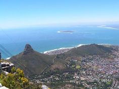 The place where he proposed to me! Signal Hill, Cape Town, Spaces, Mountains, Water, Travel, Outdoor, Gripe Water, Voyage