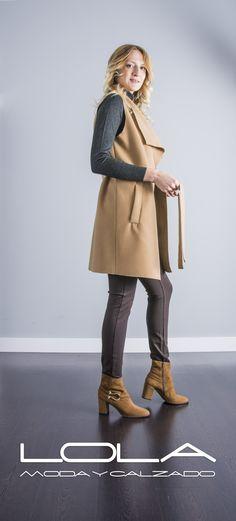 Conjunto perfecto de otoño, tu chaleco de paño por 59,95 €.  Pincha este enlace para comprar tu chaleco en nuestra tienda on line:  http://lolamodaycalzado.es/otono-invierno-2016/879-chaleco-de-pano-beige-byoung.html