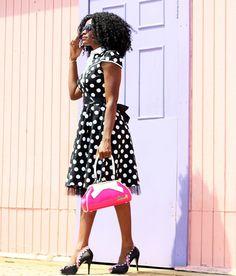 The Fashion Stir Fry: LADYLIKE IN POLKA DOT DRESS by @uniquevintage  #uniquevintage #iamuniquevintage