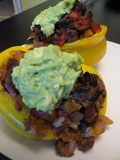 mexican stuffed bell peppers (replace meat as desired)