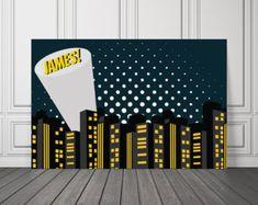 Batman Vinyl Banner / Batkid Backdrop / Superhero Vinyl Backdrop